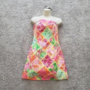 Lilly Pulitzer Strapless White Label Dress Size 4